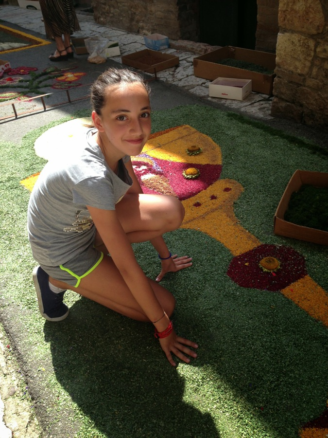Floral passion starts at a young age in Assisi