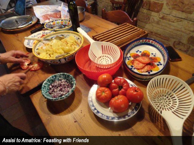 Assisi to Amatrice: Feasting with Friends
