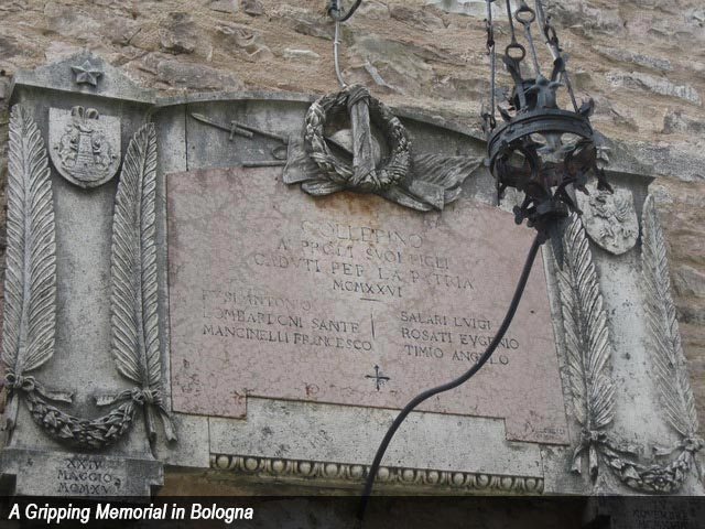 A Gripping Memorial in Bologna