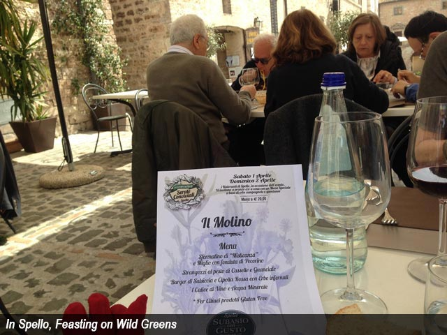 In Spello, Feasting on Wild Greens