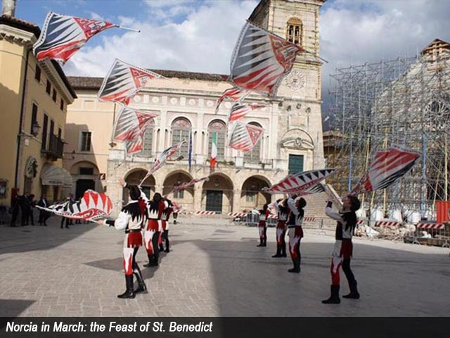 Norcia in March: the Feast of St. Benedict