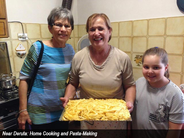 Near Deruta: Home Cooking and Pasta-Making